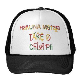 Tome un gorra del camionero de los regalos de