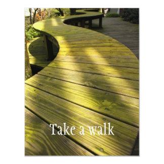 Tome un paseo invitación 10,8 x 13,9 cm