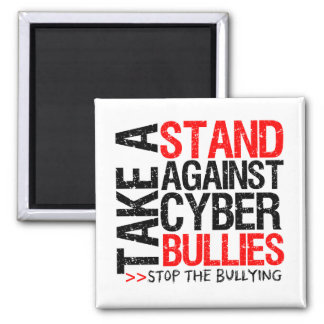 Tome un soporte contra matones cibernéticos imán para frigorifico