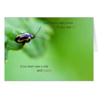 Tome una tarjeta del riesgo