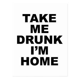 Tómememe borracho son hogar postal