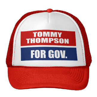 TOMMY THOMPSON PARA EL GOBERNADOR GORROS
