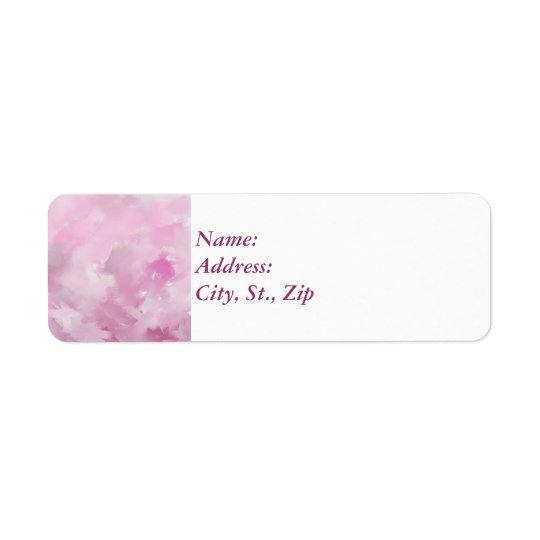 Tonalidades rosadas etiqueta de remite