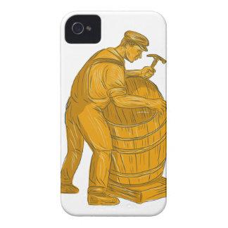 Tonelero que hace el dibujo de madera del barril carcasa para iPhone 4 de Case-Mate