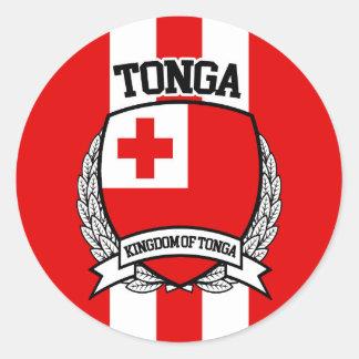 Tonga Pegatina Redonda