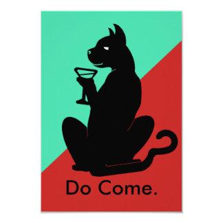 TONO del CÓCTEL 2 del CAT del GATITO por Invitación 8,9 X 12,7 Cm