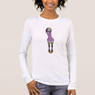Tono medio de la muñeca del pelo 3D Bonga del arco Camiseta De Manga Larga