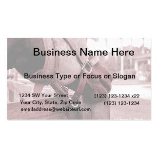 tono rojo marrón del nom del nom del caballo plantillas de tarjeta de negocio