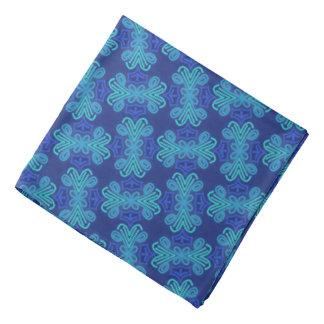 Tonos azules del diseño de Jimette del pañuelo en