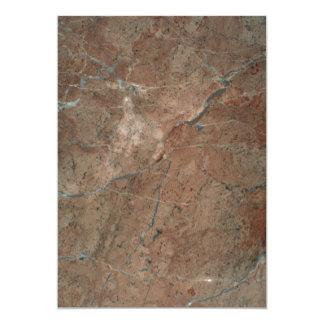 Tonos de cobre completamente sólidos invitación 12,7 x 17,8 cm