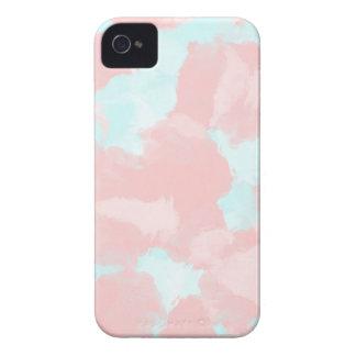 Tonos modernos del cepillo del cerulean y del rosa funda para iPhone 4