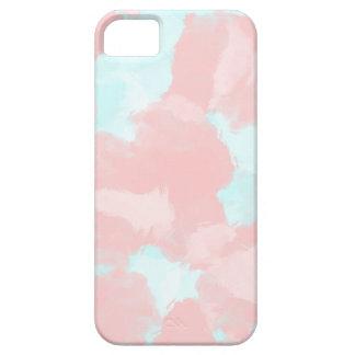 Tonos modernos del cepillo del cerulean y del rosa funda para iPhone SE/5/5s