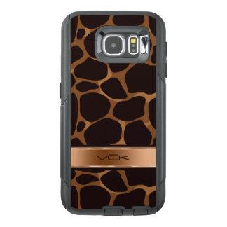 Tonos y estampado leopardo de cobre metálicos de funda OtterBox para samsung galaxy s6