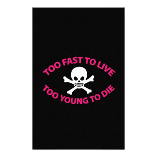 Too fast to live Too young to die Black ED. Papeleria