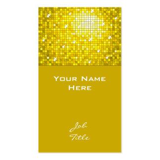 Top amarillo de la tarjeta de visita de las tejas