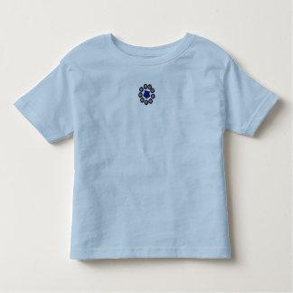 Top azul del jersey del bebé