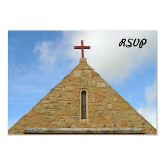 Top de la iglesia invitación 8,9 x 12,7 cm