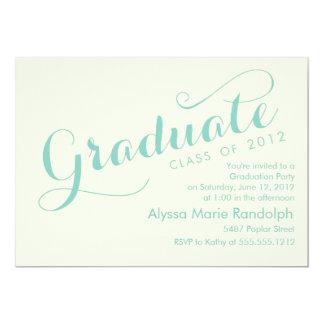 top de la invitación de la graduación de la clase