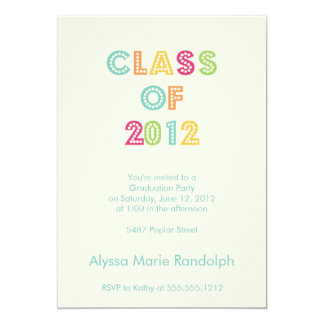 top de la invitación de la graduación de la clase invitación 12,7 x 17,8 cm