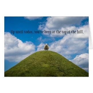 Top de las ovejas de la colina/sobre la tarjeta de