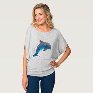 Top del círculo de Flowy del delfín de las mujeres