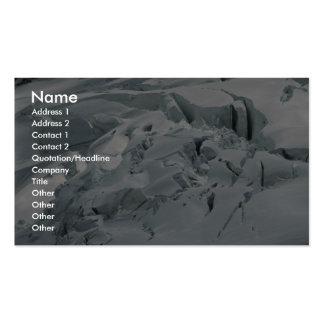 Top del glaciar tarjetas de visita