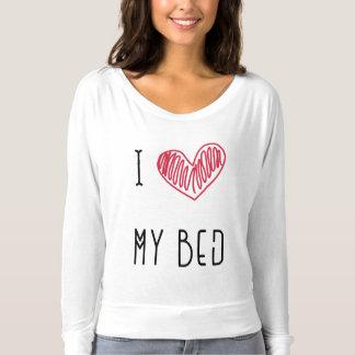Top del pijama de los amantes de la cama