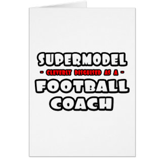 Top model. Entrenador de fútbol Felicitación