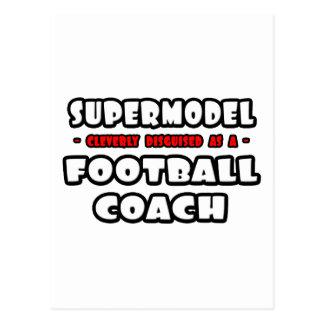 Top model. Entrenador de fútbol Postal