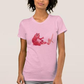 Top modelo de Chrry - cereza y el oso rosado