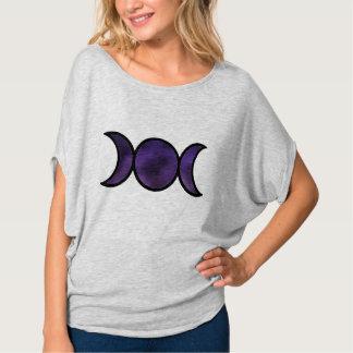 Top púrpura del círculo de Flowy de la diosa