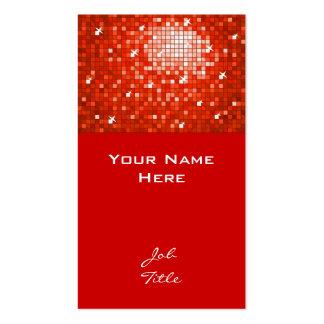 Top rojo de la tarjeta de visita de las tejas del