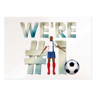 TOP somos el fútbol #1 Tarjetas De Visita Grandes