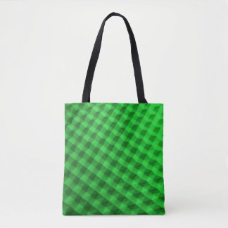 Topetón verde que mira el caso bolso de tela
