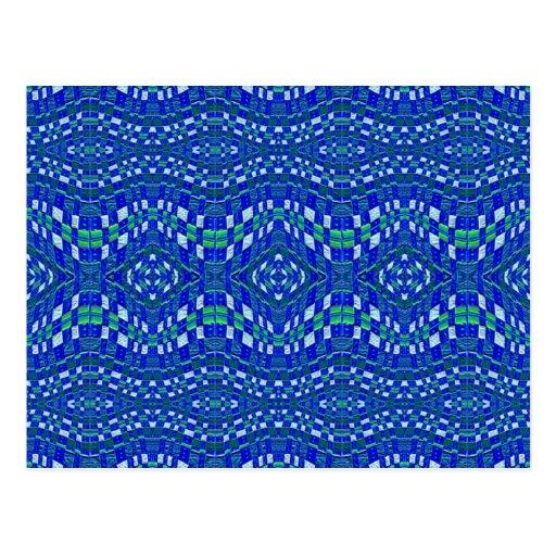 topetones azules tejidos tarjeta postal
