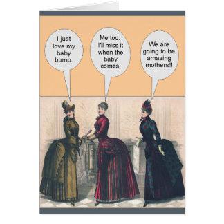 Topetones del bebé de las mujeres del Victorian - Tarjeta De Felicitación