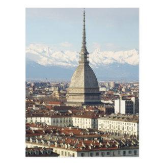 Topo Antonelliana en Turín Italia vista del hil Postal