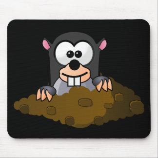 Topo divertido del dibujo animado alfombrilla de ratón