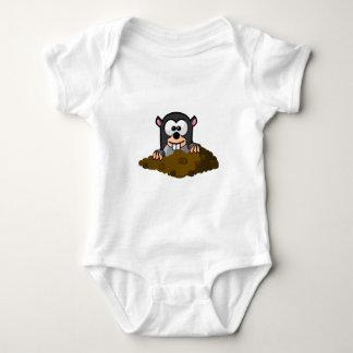Topo lindo del dibujo animado surgiendo fuera de body para bebé