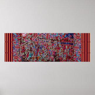 Topografía CÓSMICA - imaginación salvaje abstracta Póster