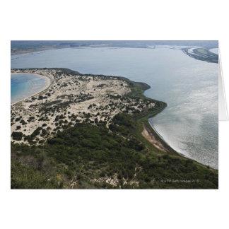 Topografía de la bahía y de la laguna cerca de Pil Tarjeta De Felicitación