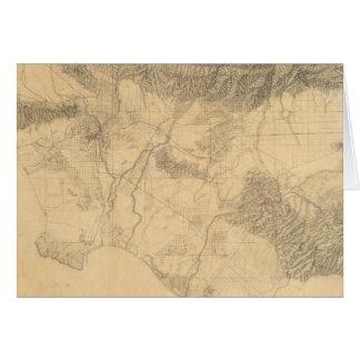 Topografía de Los Ángeles y de San Bernardino Tarjeta De Felicitación
