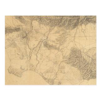 Topografía de Los Ángeles y de San Bernardino Postales