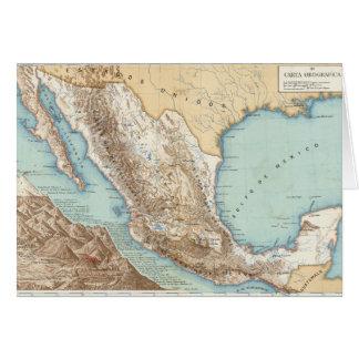 Topografía de México Tarjeta De Felicitación