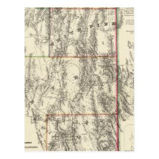 Topografía de Nevada meridional Tarjetas Postales
