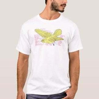 topografía del pájaro camiseta