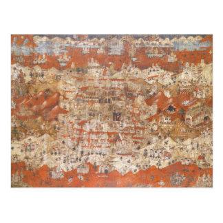 Topografía del siglo XV de Palestina de la Tierra  Postal