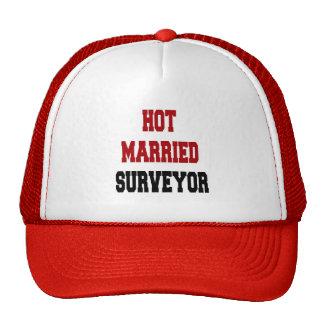 Topógrafo casado caliente gorras