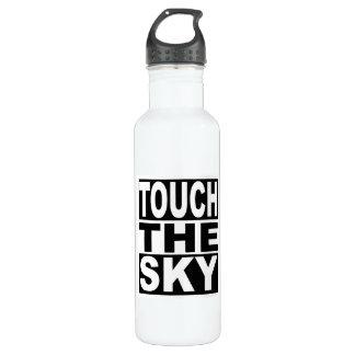 Toque el cielo botella de agua