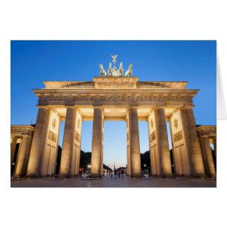 Tor Berlín de Brandenburger Tarjeta De Felicitación